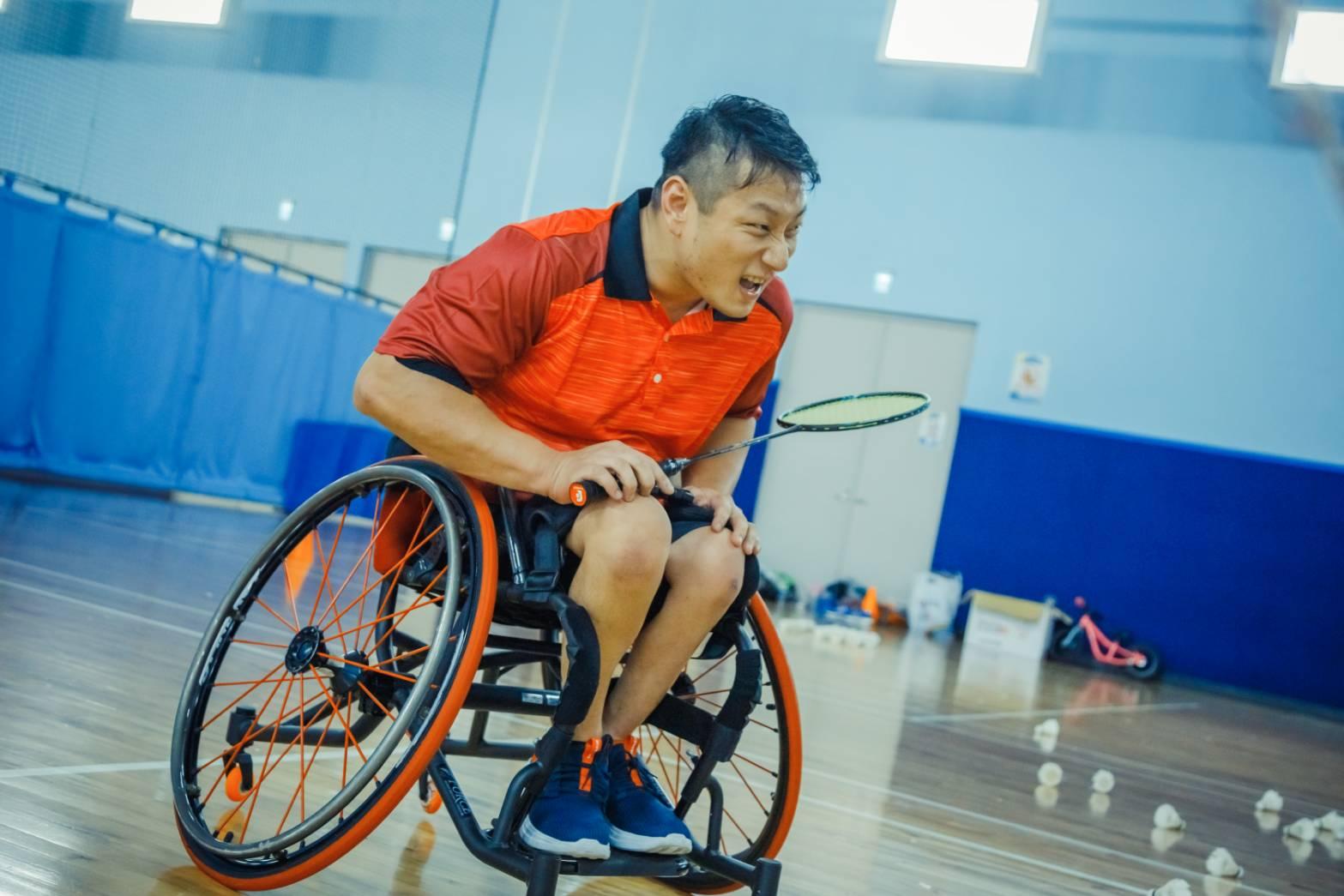 王柏翔幾乎喜愛輪椅上所有運動