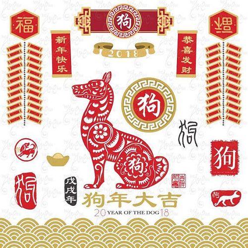 送鷄迎狗,新春快樂,家家平安,幸福過年!