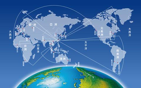 中央廣播電臺發射到全球的分布圖