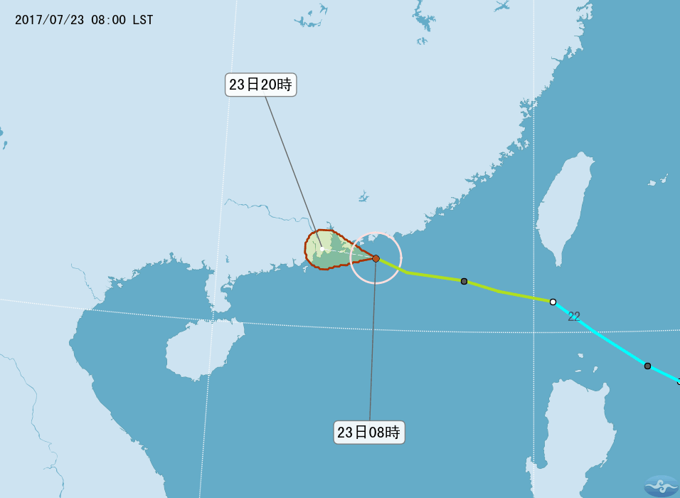 颱風來襲 港粵警戒