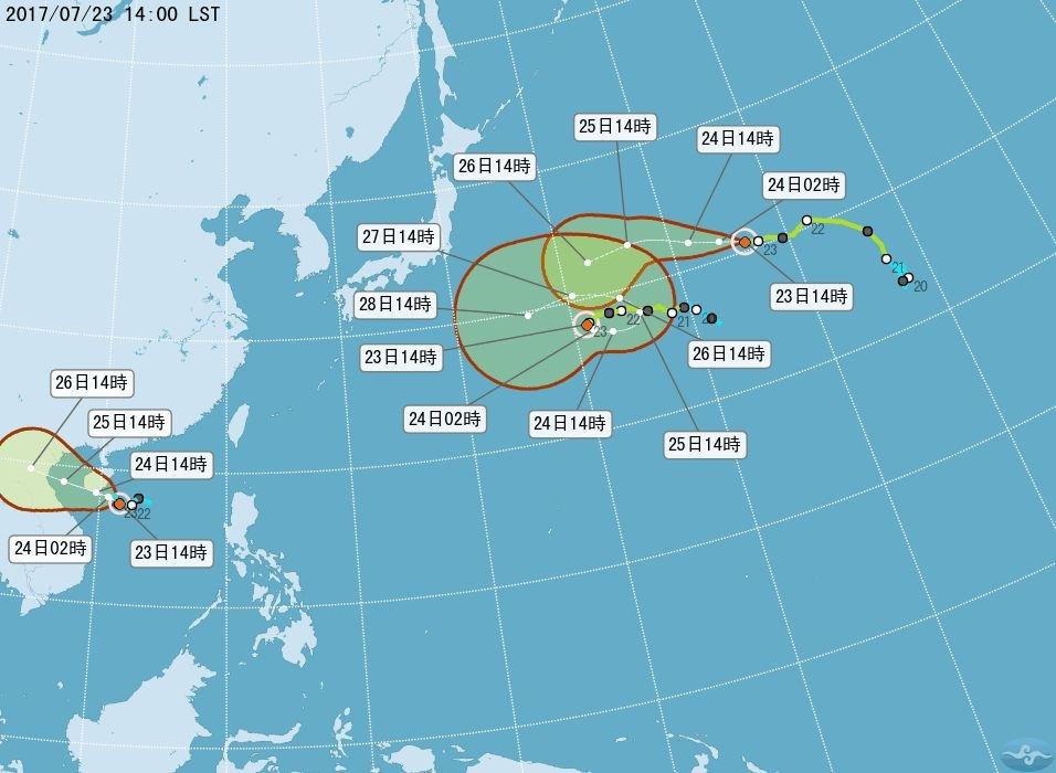 8號輕颱桑卡形成 9號尼莎週五恐影響台灣