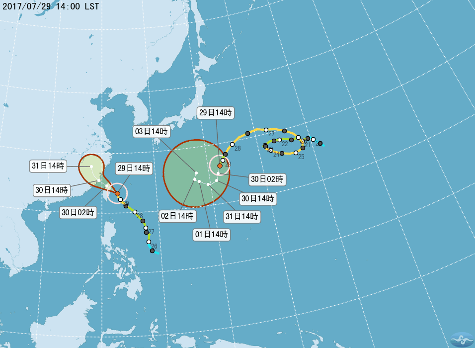 尼莎登陸點北修至宜蘭 新颱海棠海陸警齊發