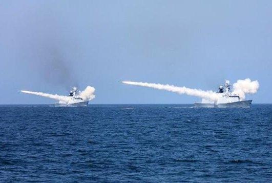 中共海軍黃海渤海演習 實射飛彈數十枚
