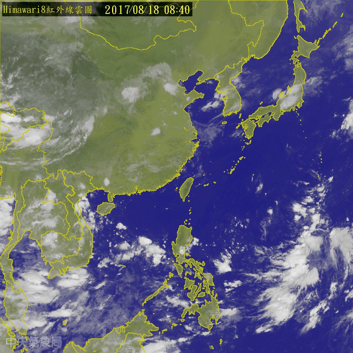 高壓北移  注意是否有颱風形成