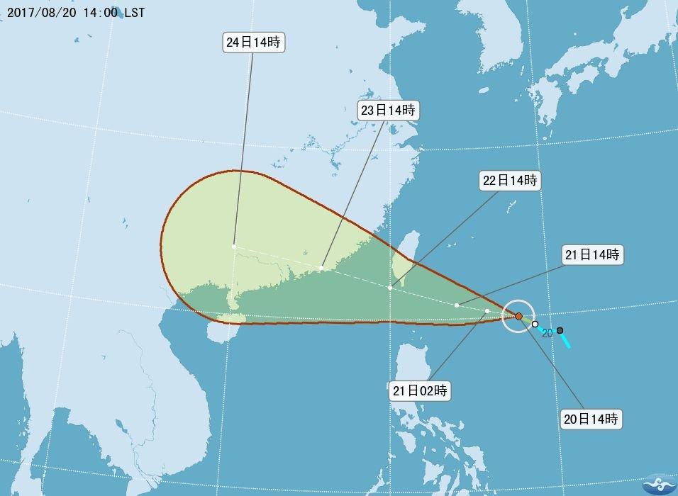 第13號颱風天鴿形成 預計晚間發布海警