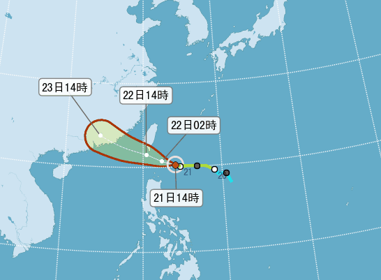 天鴿颱風陸警發布 台東屏東警戒