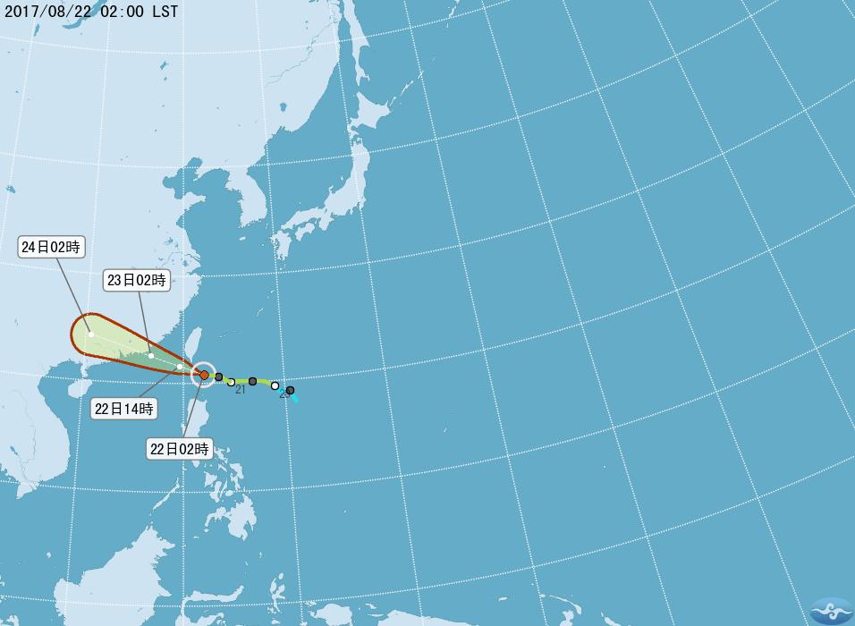 天鴿颱風加速  本島陸警最快中午解除