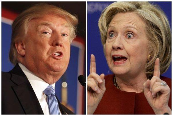 川普辯論時緊緊跟隨 希拉蕊起雞皮疙瘩
