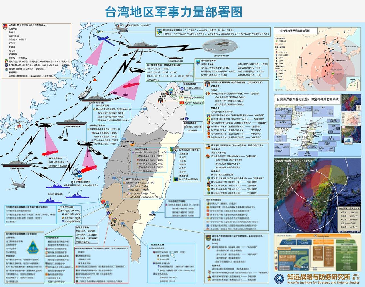 中國機構售台軍力部署圖 國防部:不評論
