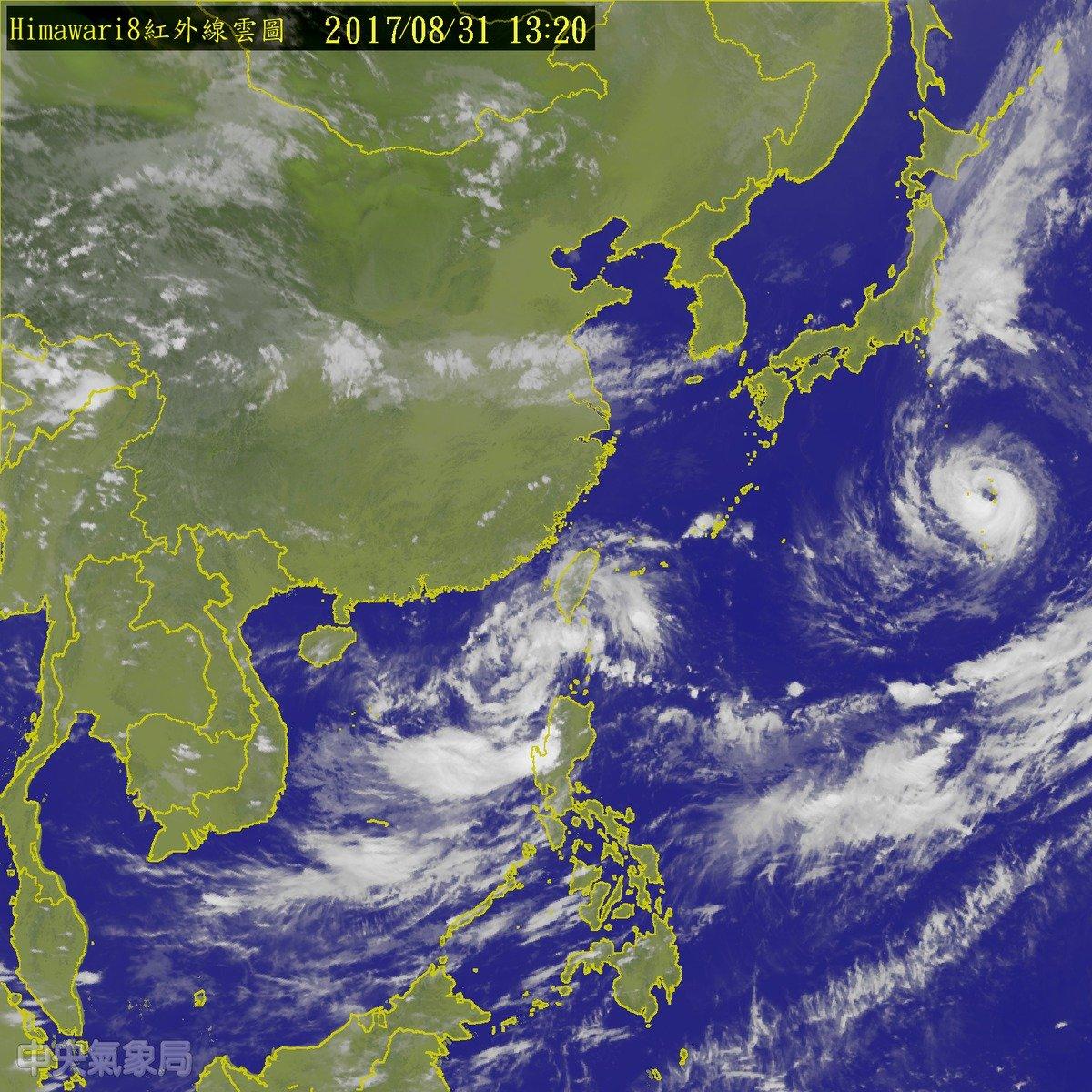 今年第16號颱風瑪娃 最快晚間形成