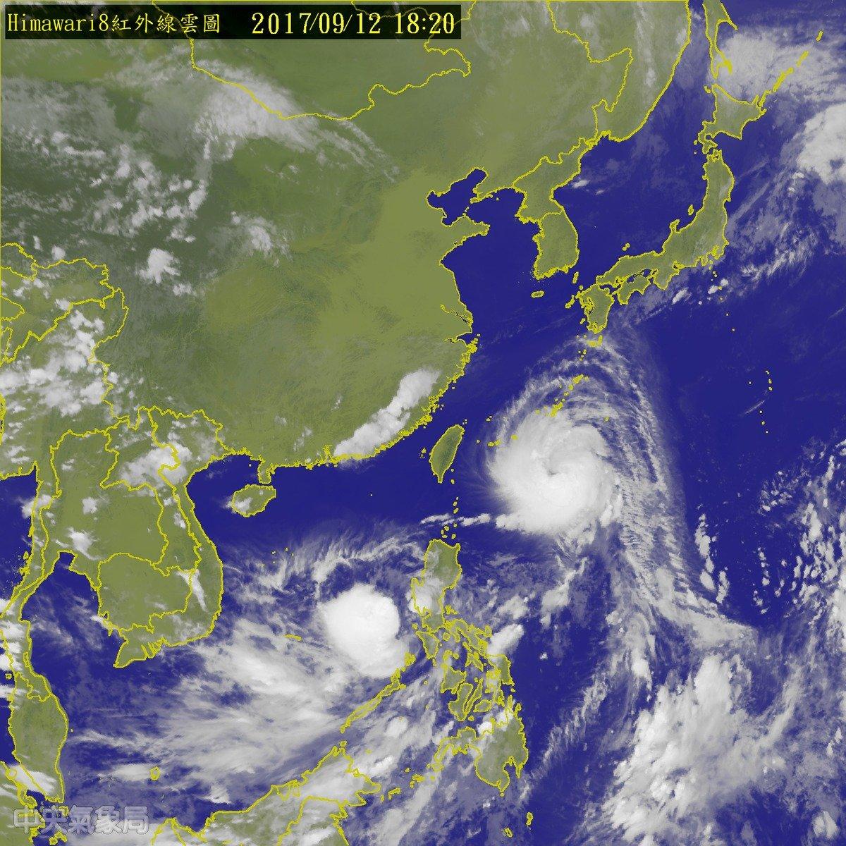 中颱泰利逐步進逼 陸警估明凌晨後發布