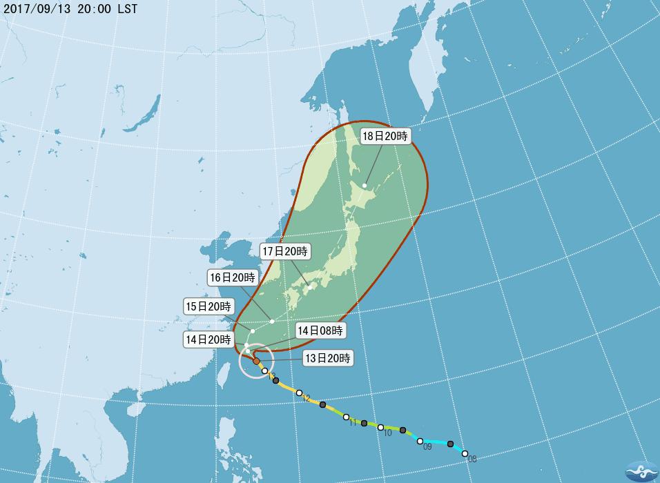 颱風泰利強度略增 北部注意強降雨