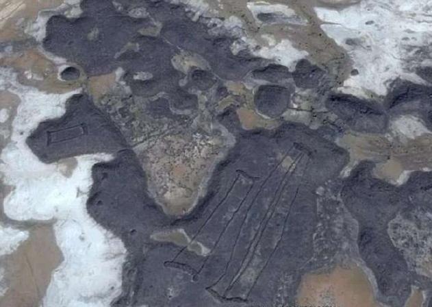 谷歌地圖空拍 沙烏地荒漠神祕遺址曝光
