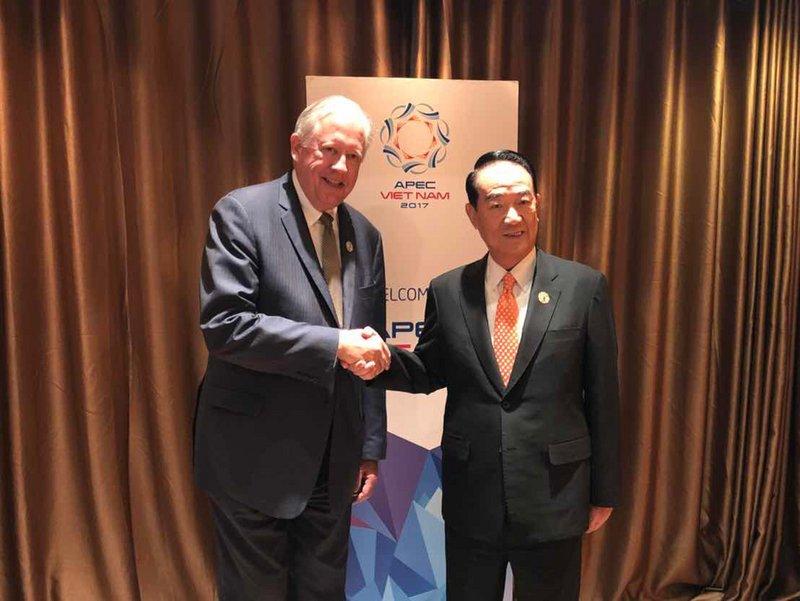 宋楚瑜今與美方雙邊會談 觸及北韓議題