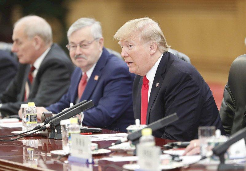 川普結束北京行 赴越南出席APEC