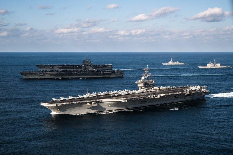 美3航艦西太平洋擺陣仗 強調例行巡弋