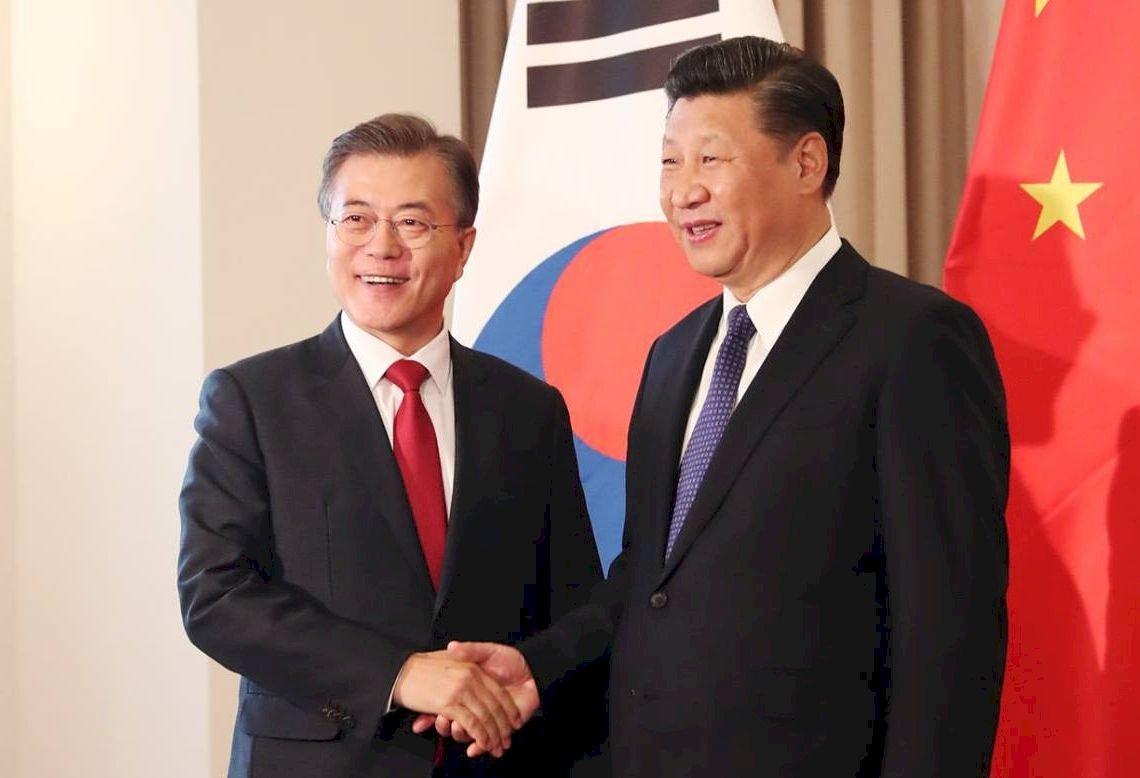 韓媒:文在寅與習近平會面討論北韓非核