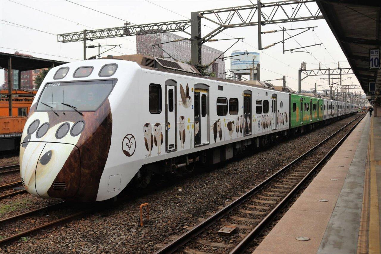 里山動物彩繪列車首航 國土生態綠網啟動