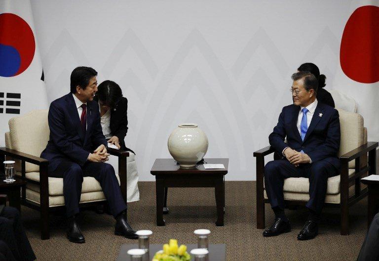 文在寅與安倍高峰會談 將於24日在中國舉行