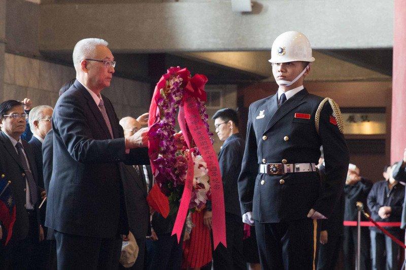 國父逝世93週年紀念日 馬英九吳敦義致敬