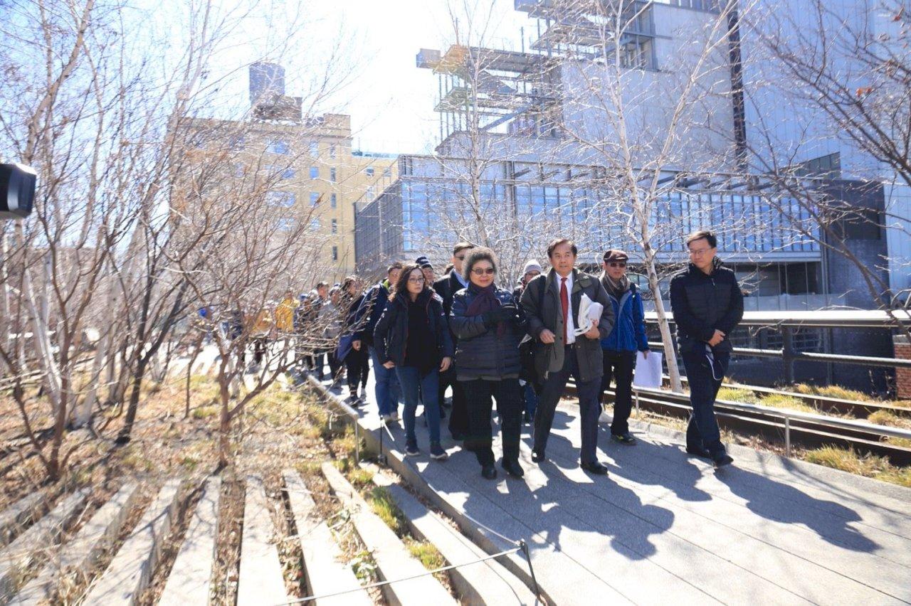 陳菊訪紐約高線公園 觀摩綠地典範