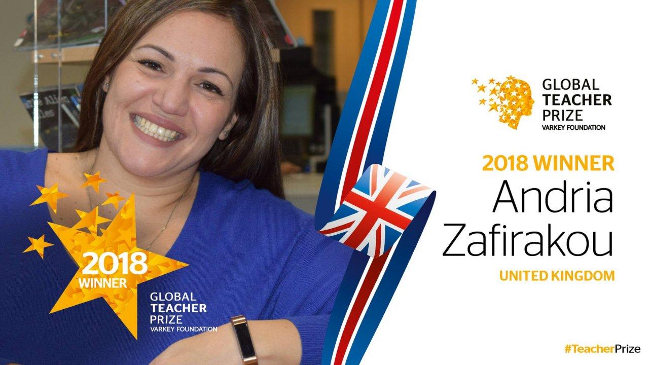 英女教師奪全球教師獎 抱回近3000萬獎金