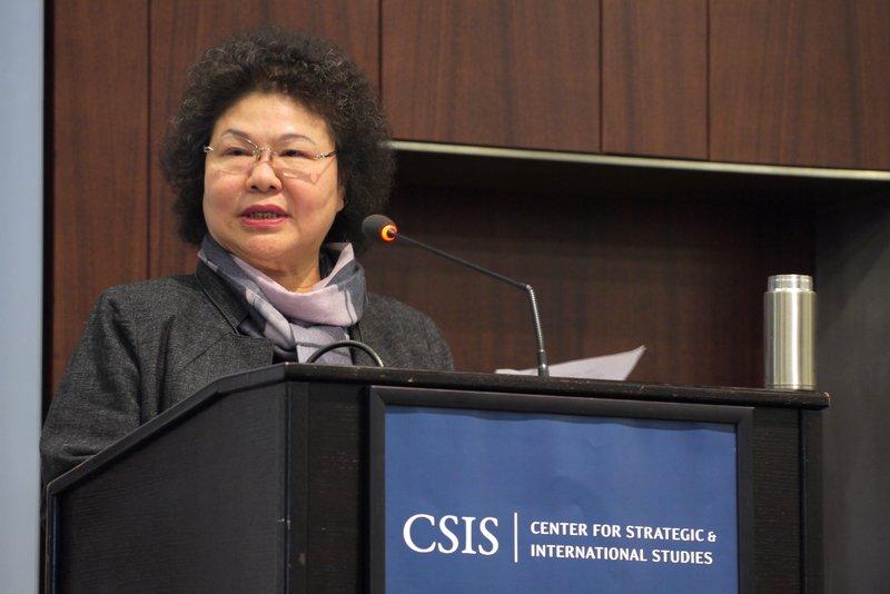 陳菊:台灣要有經濟發展及國防自衛能力