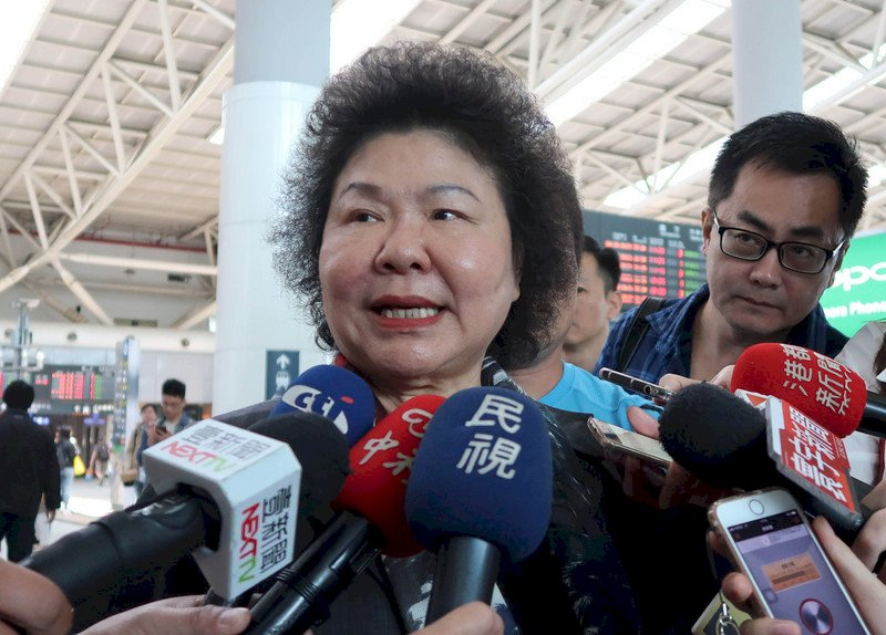 向總統報告訪美成果 陳菊:未討論新職