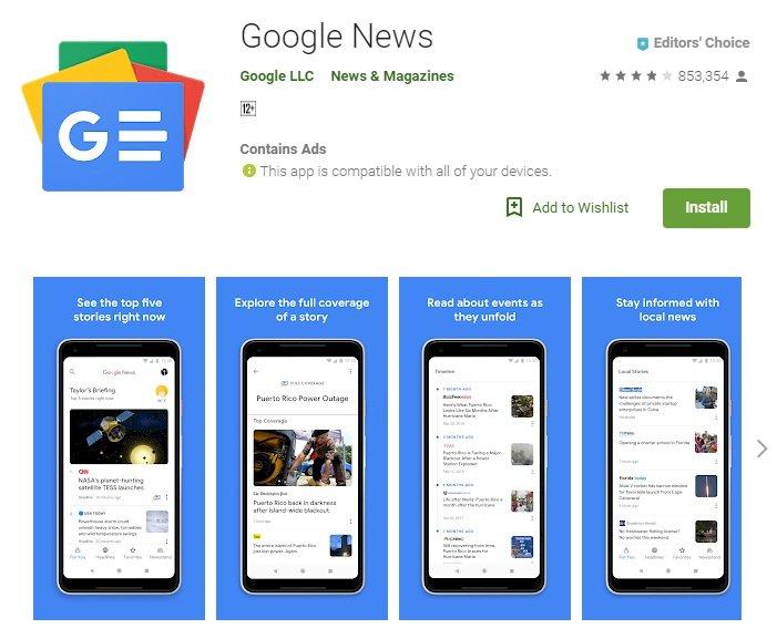 谷歌推新版新聞app 擺脫假新聞和同溫層