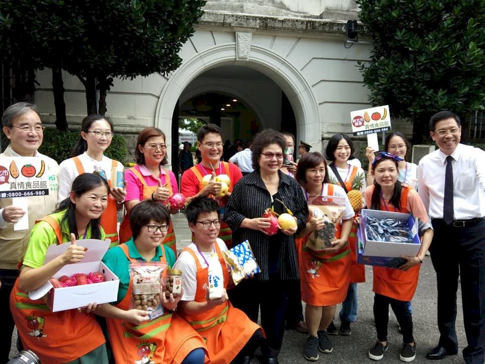 總統府開放促銷水果 陳菊:不實消息傷農