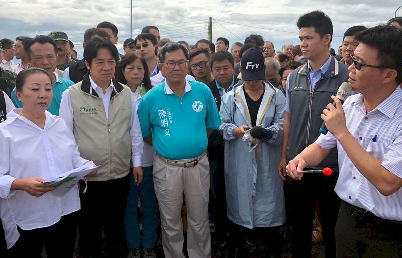 賴清德:淹水受災戶 每戶救助2萬元