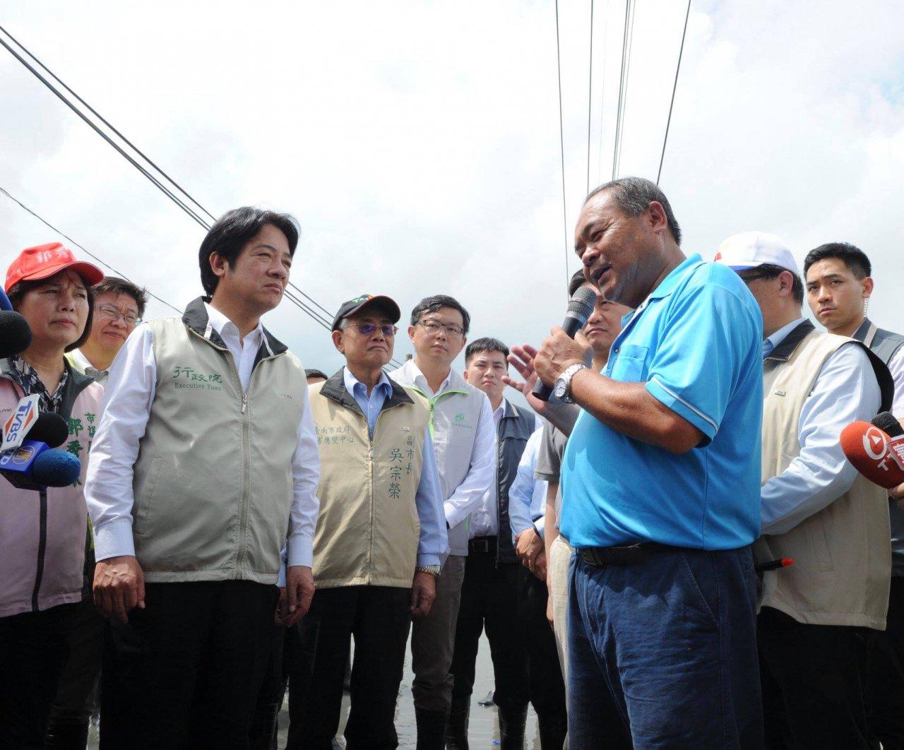 台南勘災 賴揆:豪雨灌社區 外水未氾濫