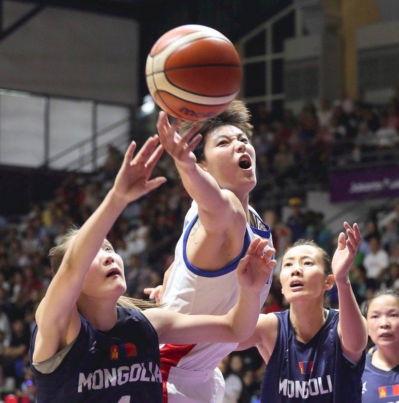 印尼亞運/中華女籃76比59勝蒙古 挺進4強