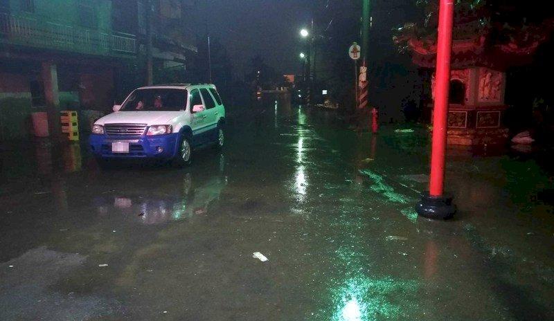 嘉義東石掌潭村已退水 僅剩考試里水未退