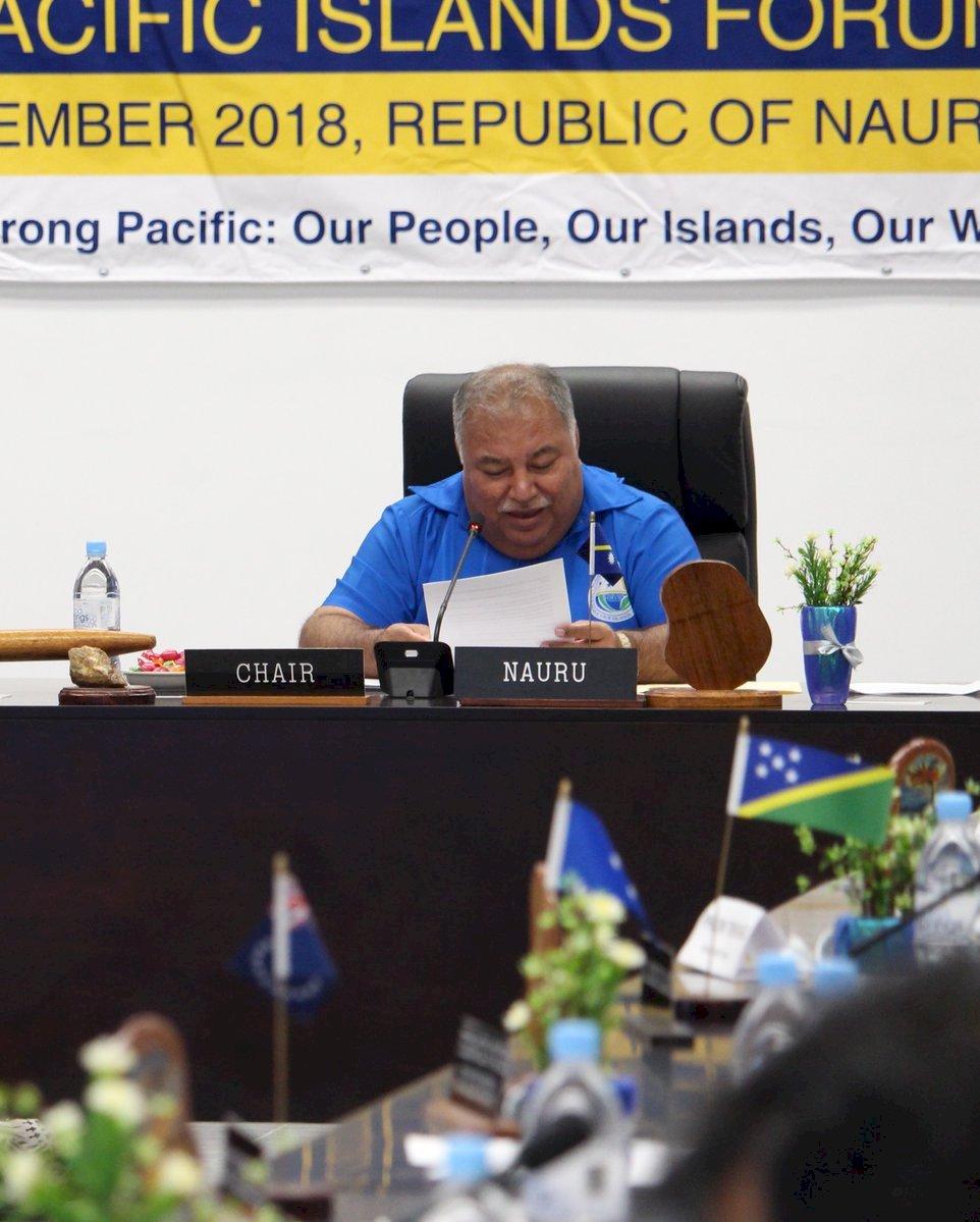 太平洋島國論壇 中國代表搶發言受阻退場抗議