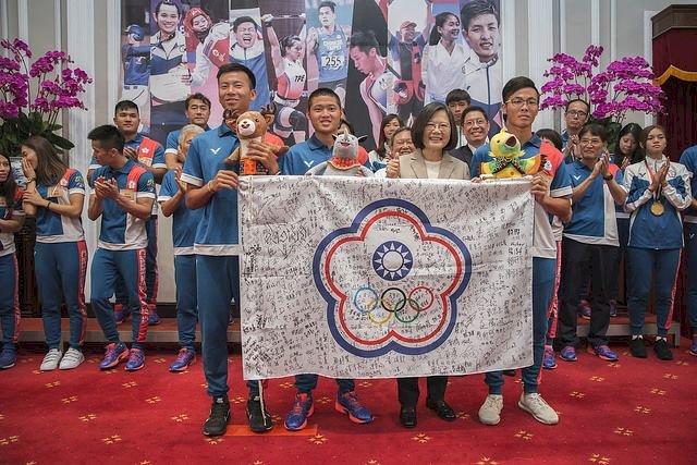 接見亞運選手 總統:國家因你們而偉大