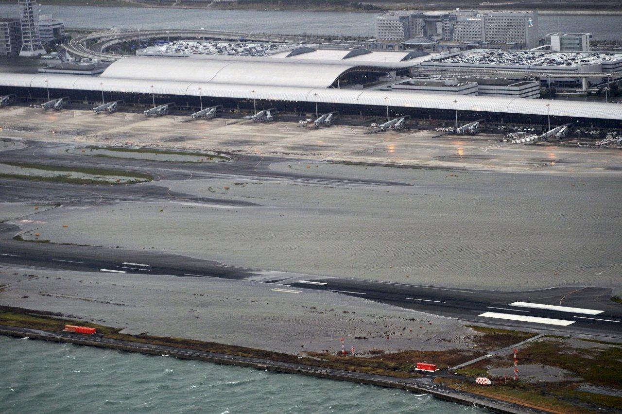 日關西機場因強颱關閉 恐影響晶片出口