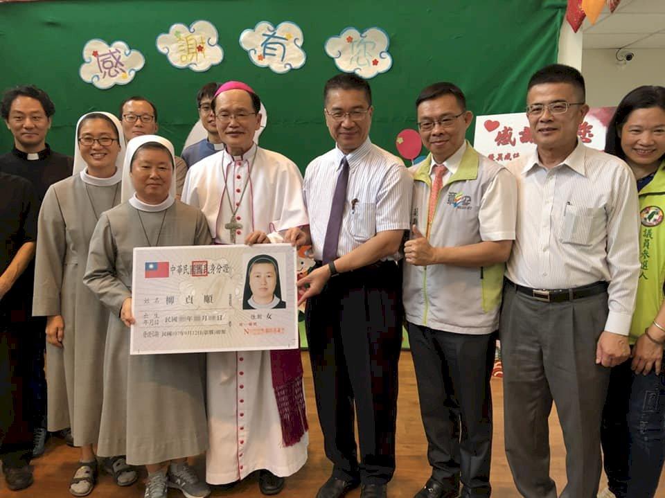 來台關懷弱勢25年 韓籍修女柳貞順今獲身分證