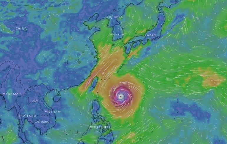 潭美颱風28日起接近 直接侵台機率降低