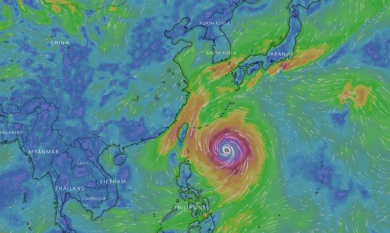 潭美颱風減弱北轉 海警發布機率低