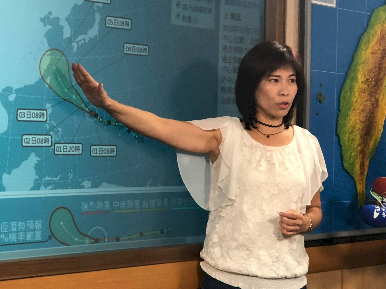 強颱康芮進逼 仍未排除周四發布海警