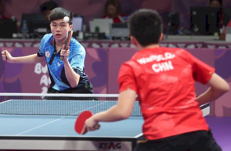 青奧桌球團體賽 林昀儒蘇珮綾不敵中國爭銅