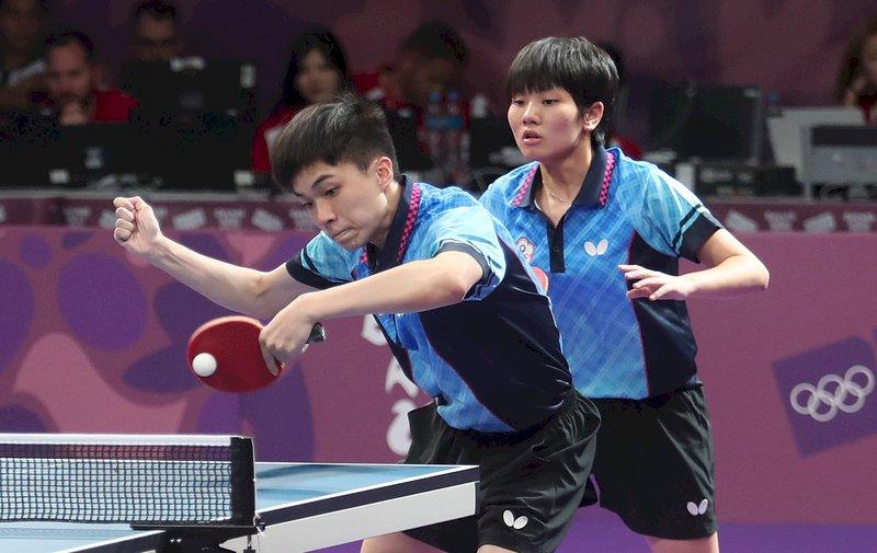 青奧桌球國際混合團體 林昀儒蘇珮綾摘銅