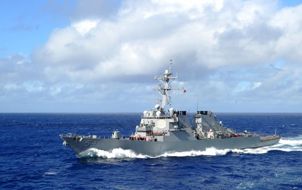 美驅逐艦經台灣海峽北駛 國防部全程掌握