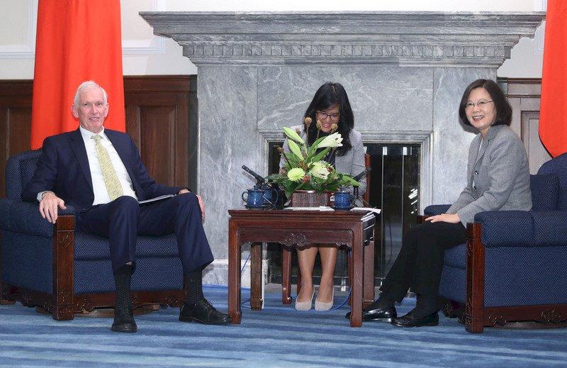 蔡總統盼續加強台美合作 莫健:台灣是善良力量