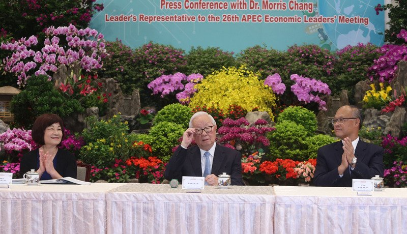 張忠謀:和APEC領袖自然互動 也要看對方態度
