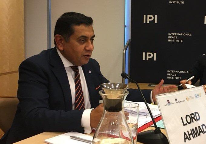 英代表聯大發言 關切港區國安法侵犯人權