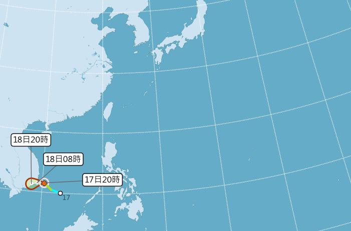第27號颱風桔梗形成 對台無影響