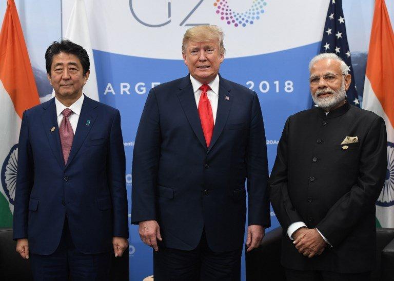 劍指中國 美日印三方峰會重申印太自由航行