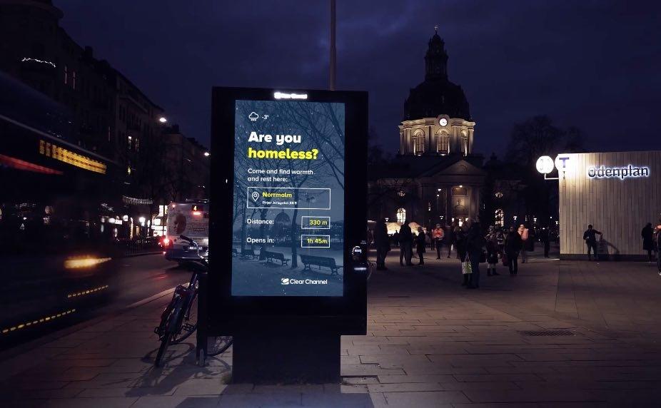 瑞典最美風景 捨耶誕廣告指引遊民避難
